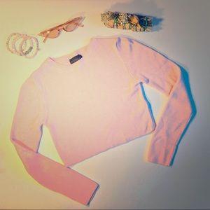 TOPSHOP Pink Crop Top